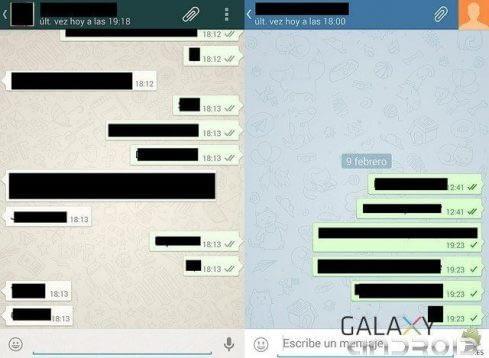 ASpecto de Telegram y Whatsapp
