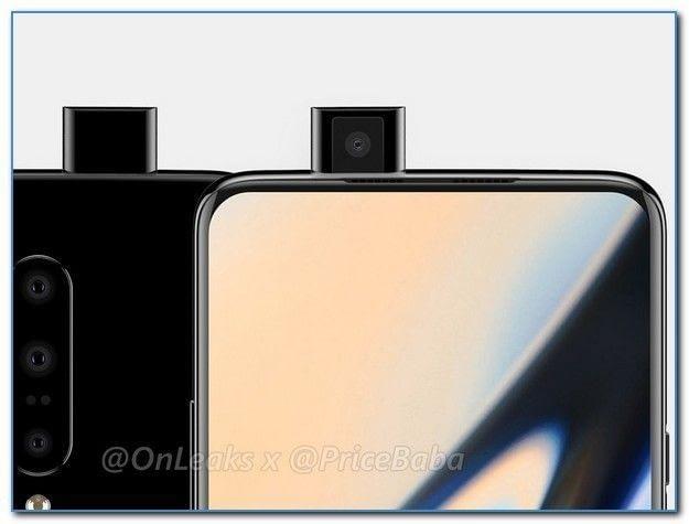 Render OnePlus 7 con cámara retráctil