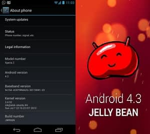 Android 4.3 Google Edition Sony Xperia Z