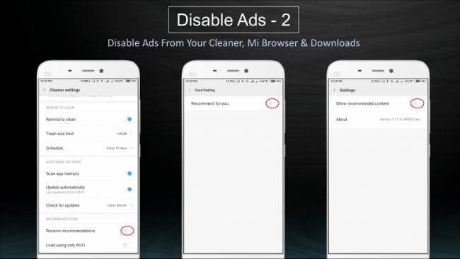 Eliminar publicidad de Xiaomi