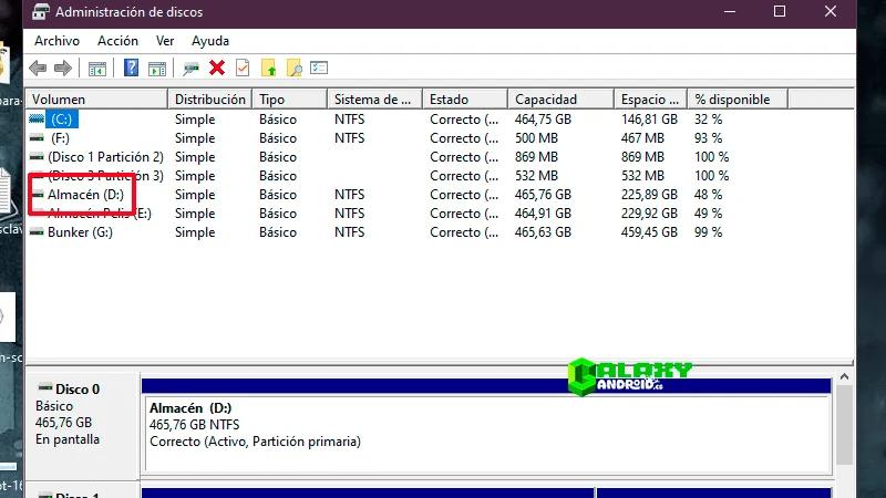 Solución al problema de Disco Duro D: no reconocido en administrador de discos