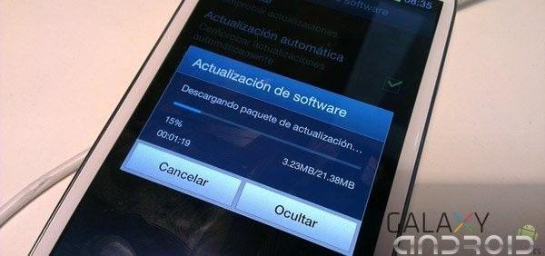 Portada de Samsung Galaxy S3 actualización por OTA