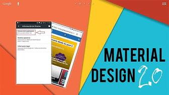 Portada Material design 2.0 en google Chrome apk