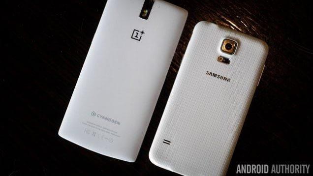 Diseño OnePlus One vs Galaxy S5