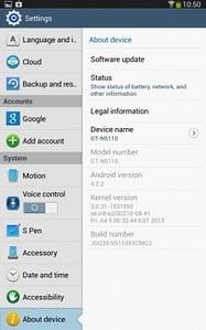 android 4.2.2 en tu Galaxy Note 8 wifi (N5110)