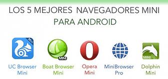 Portada de Top 5 navegadores mini android