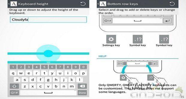 Screen de Smart Keyboard Lg G3