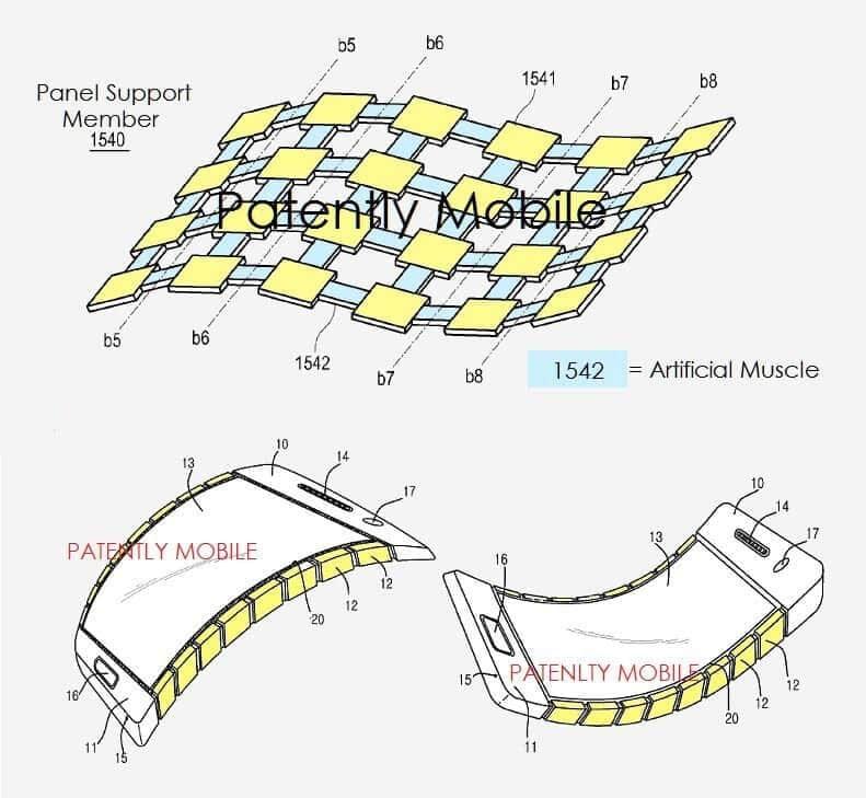 Patente de samsung smartphone flexible