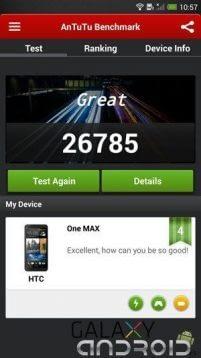 antutu benchmark HTC One Max