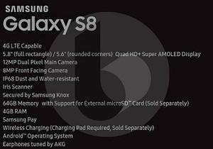 características S8