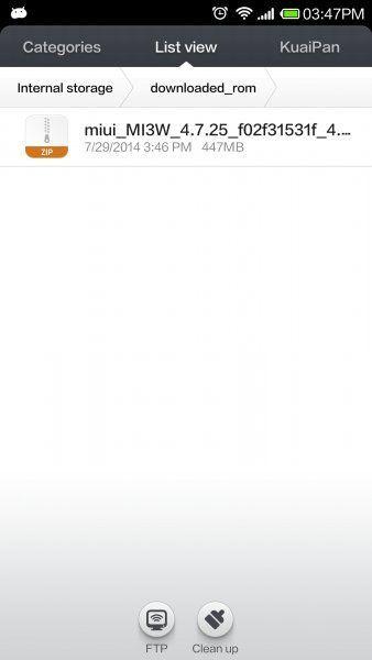 Select ROM update Xiaomi MI4