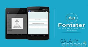 Cambiar letra de tu smartphone con Fontster