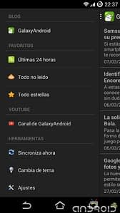 Barra lateral app Galaxyandroid