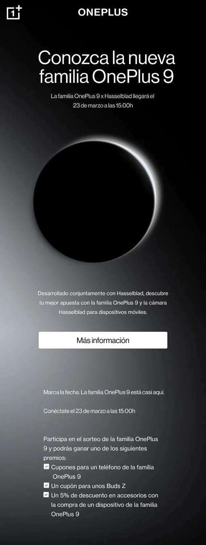 OnePlus9 Cámara HasselBlad y fecha de presentación