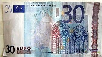Portada de billete de 30€ Falso