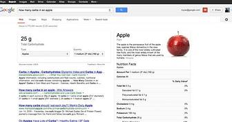 Portada Google Search info nutricional