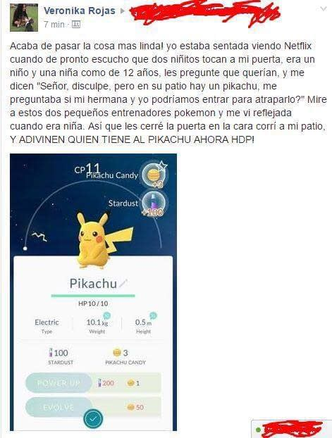 Pokemon Go solidario Facebook