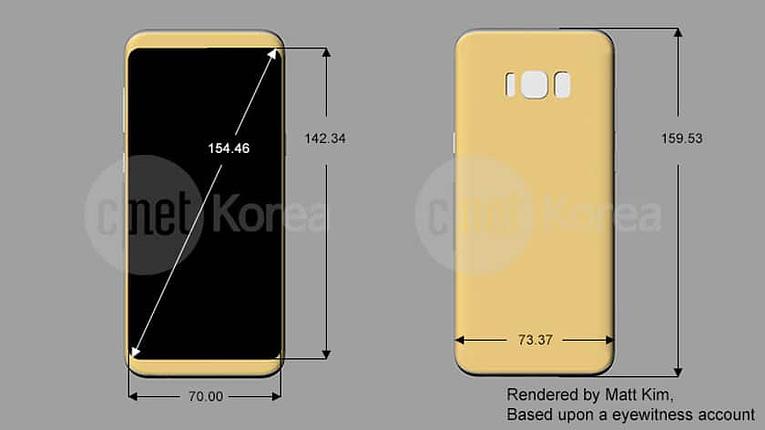 Diseño Render Samsung S8 y S8+