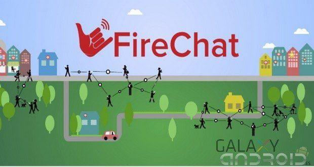 Firechat mensajería instantánea en android