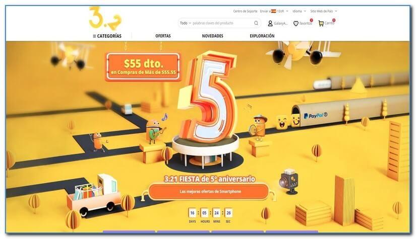 Descuentos por el 5º aniversario Gearbest