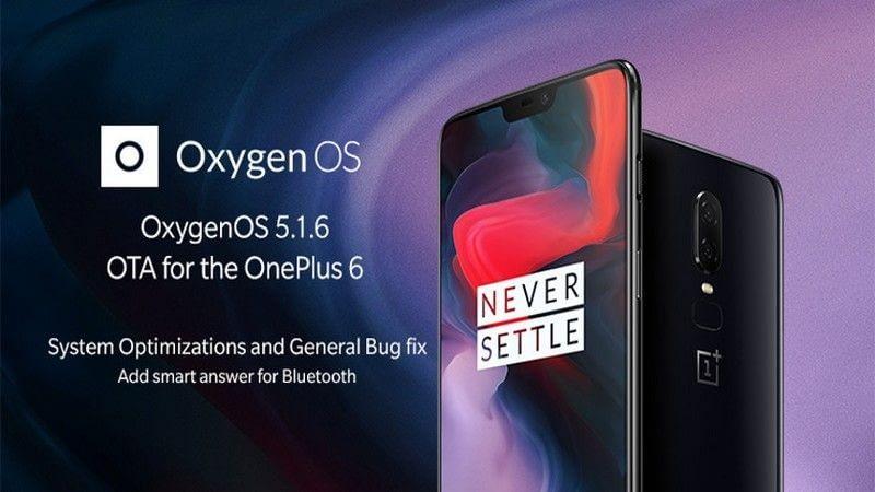 Portada One Plus 6 recibe Oxygen 5.1.6