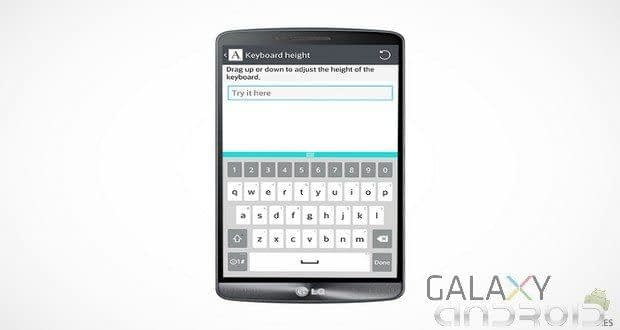 LG G3 teclado