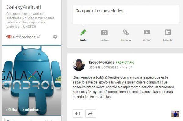 Portada de comunidad GalaxyAndroid en Google+