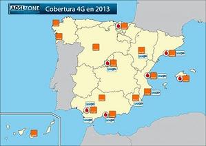 Mapa de Red 4G España