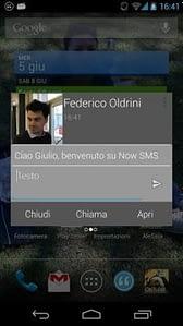 notificación emergente Now SMS