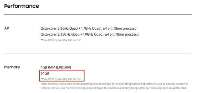 Los GalaxyS8 no tienen memoria UFS 2.1