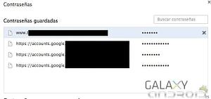 Borrar contraseñas guardadas en google chrome