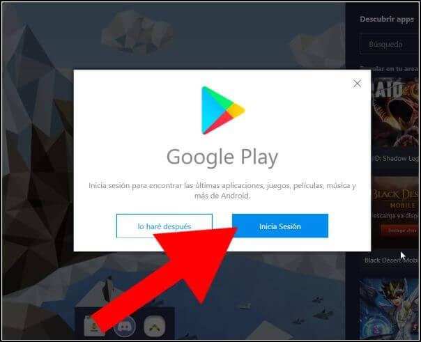 Inicia sesión en Google, para que Google Play Store aumenta la velocidad de las descargas esté disponible