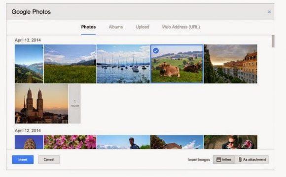 selección de imagen en gmail